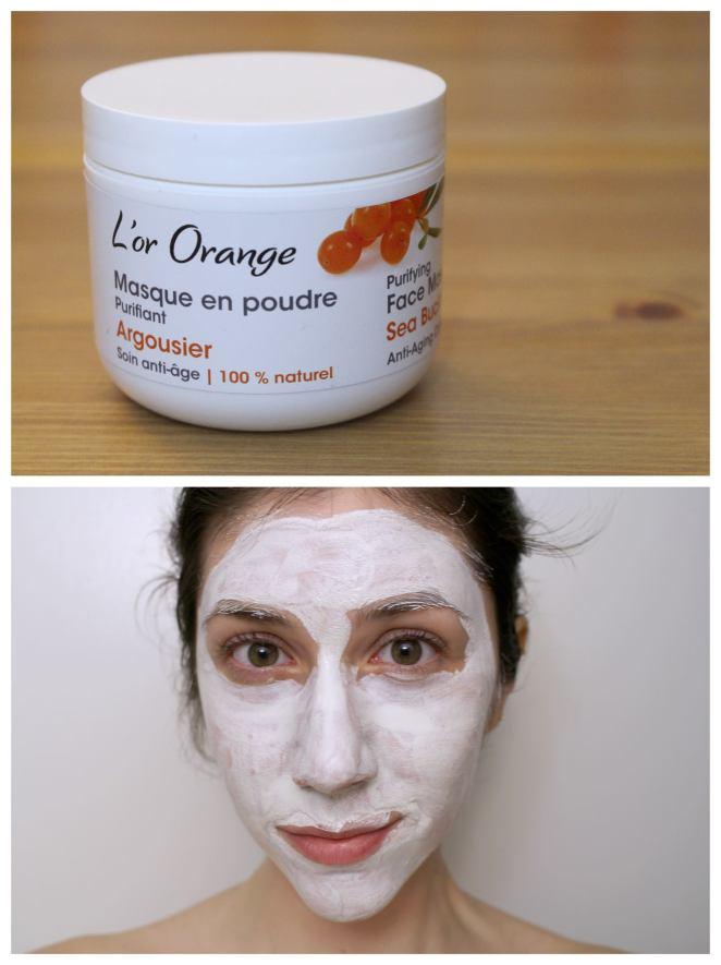 Masque en poudre purifiant à l'argousier de Kamelya aromacosmétiques